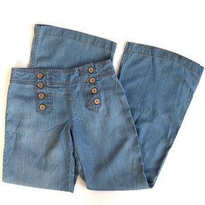 Anthropologie light wash wide leg sailor jeans